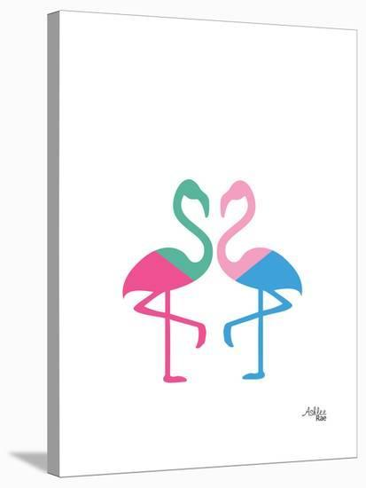 Flamingo Two-Ashlee Rae-Stretched Canvas Print