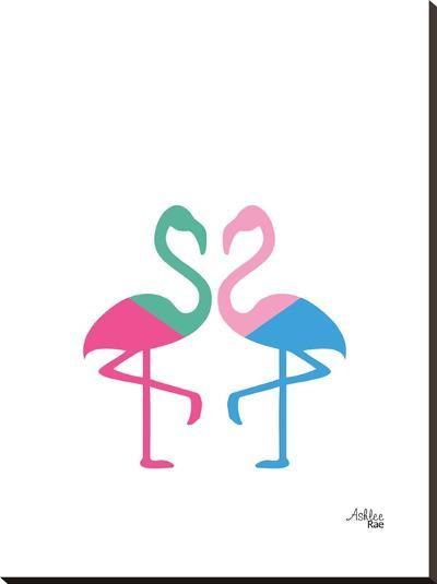 Flamingo Two-Ashlee Rae-Stretched Canvas Print