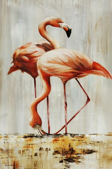 Flamingo V-Sydney Edmunds-Giclee Print