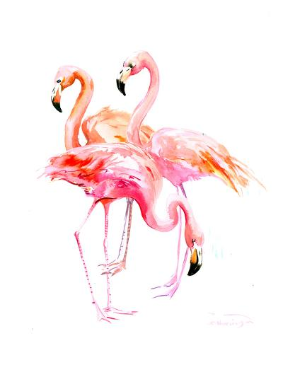 Flamingo-Suren Nersisyan-Art Print