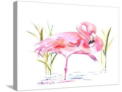 Flamingo-Suren Nersisyan-Stretched Canvas Print