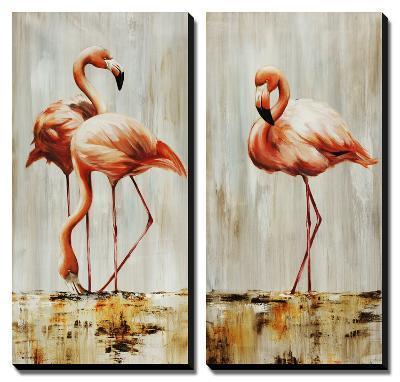 Flamingo-Sydney Edmunds-Canvas Art Set