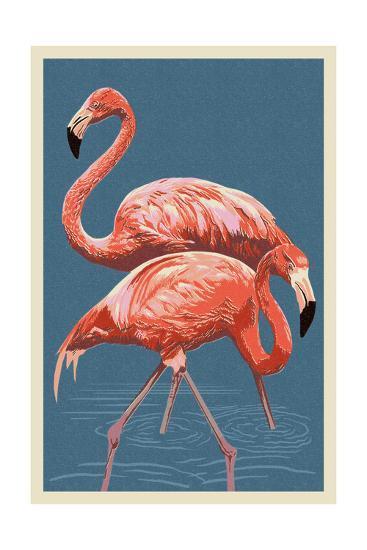 Flamingo-Lantern Press-Art Print