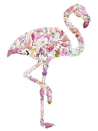 Flamingo-Louise Tate-Giclee Print