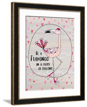 Flamingo-Jo Moulton-Framed Art Print