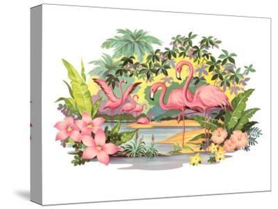 Flamingos in the Tropics
