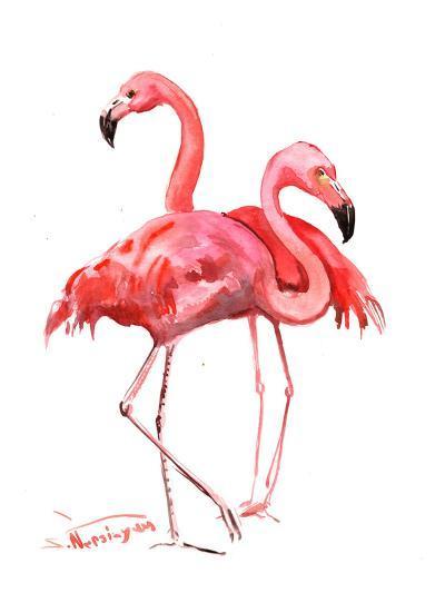 Flamingos-Suren Nersisyan-Art Print
