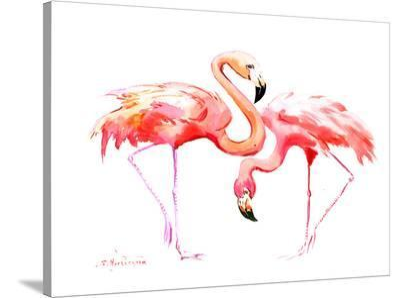 Flamingos-Suren Nersisyan-Stretched Canvas Print