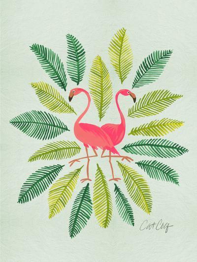 Flamingos-Cat Coquillette-Art Print