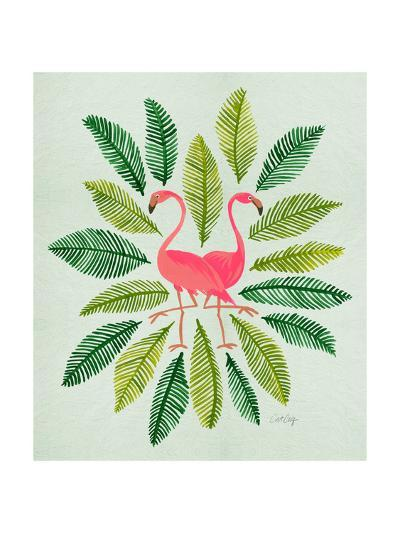 Flamingos-Cat Coquillette-Giclee Print