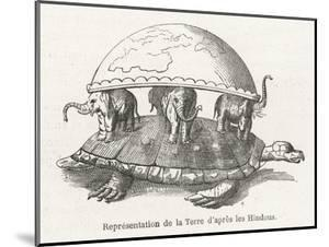 According to Hindu Belief the Earth is Supported on Elephants Standing on a Tortoise by Flammarion