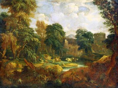 Flanders Landscape, 17th or Early 18th Century-Cornelis Huysmans-Giclee Print