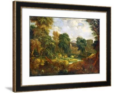 Flanders Landscape, 17th or Early 18th Century-Cornelis Huysmans-Framed Giclee Print