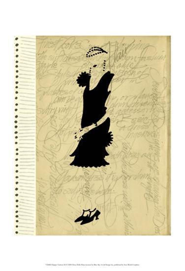 Flapper Fashion III-Elissa Della-piana-Art Print