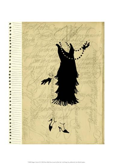 Flapper Fashion IV-Elissa Della-piana-Art Print