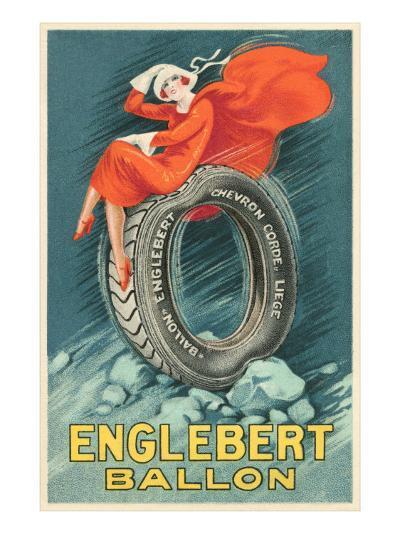 Flapper on Car Tire--Art Print