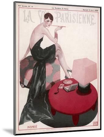 Flapper Smokes a Ciggie--Mounted Giclee Print