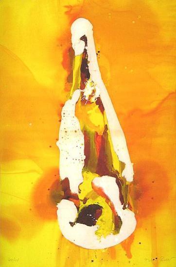 Flasche auf orangem Hintergrund-Melanie Richter-Limited Edition