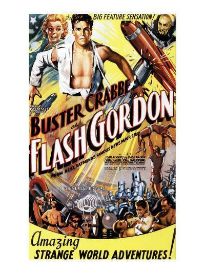 Flash Gordon, Jean Rogers, Larry 'Buster' Crabbe, Charles Middleton, 1936--Photo