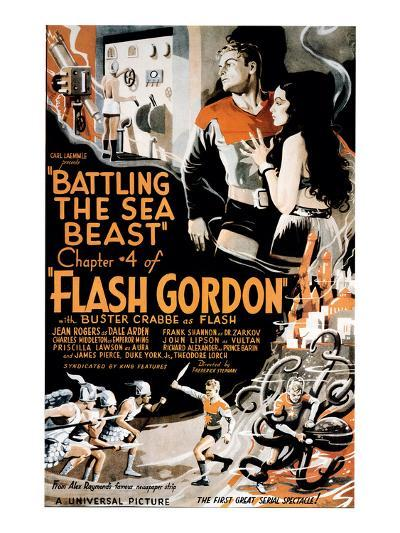 Flash Gordon, Larry 'Buster' Crabbe In 'Chapter 4: Battling the Sea Beast', 1936--Photo