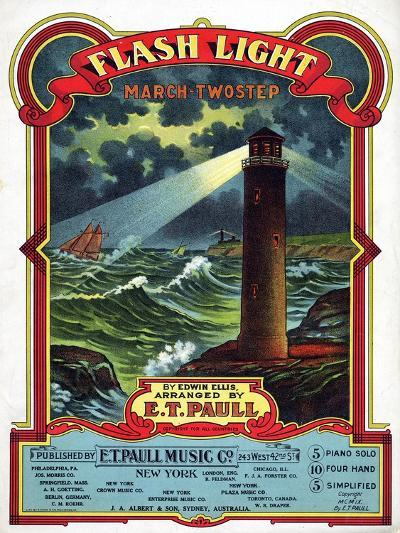 """Flash Light"" from the Sheet Music Collection at National Museum of American History--Art Print"