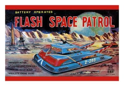 Flash Space Patrol--Art Print
