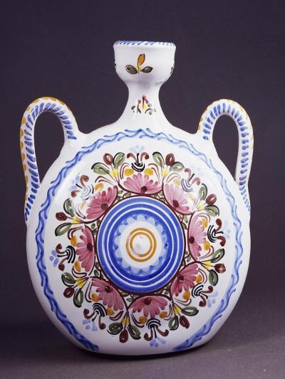 Flask Decorated with Flowers--Giclee Print