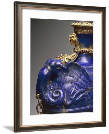 Flask with Chain, Lapis Lazuli, Gold and Gilded Copper, Detail--Framed Giclee Print