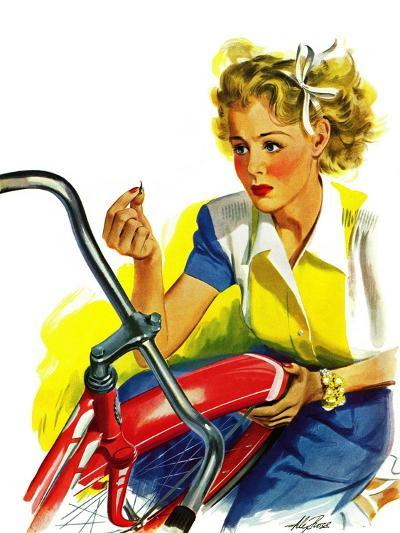 """Flat Bike Tire,"" July 24, 1943-Alex Ross-Giclee Print"