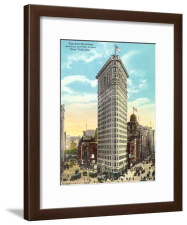 Flat Iron Building Manhatten-Found Image Press-Framed Art Print
