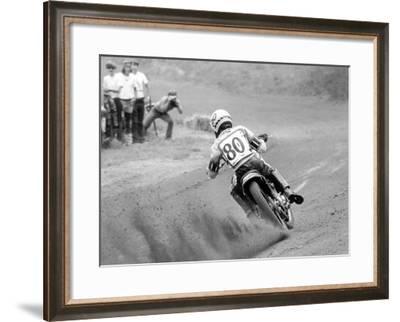 Flat Track-Dan Mahoney-Framed Giclee Print