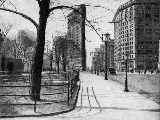 Flatiron Building and Madison Square, New York City, USA, C1930S-Ewing Galloway-Premium Giclee Print
