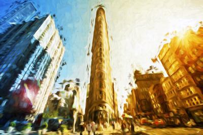 Flatiron Building II - In the Style of Oil Painting-Philippe Hugonnard-Giclee Print