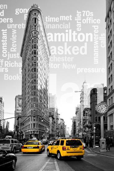 Flatiron Building - Taxi Cabs Yellow - Manhattan - New York City - United States-Philippe Hugonnard-Photographic Print
