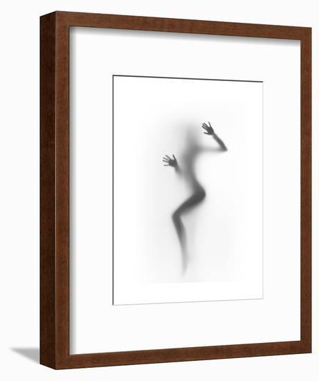 Flattened-Shadow-Framed Art Print
