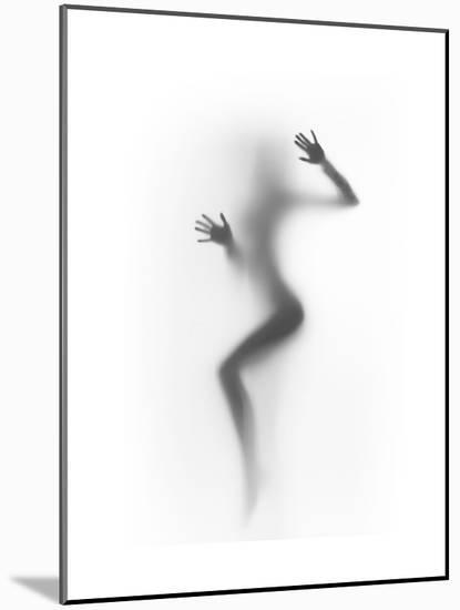 Flattened-Shadow-Mounted Art Print