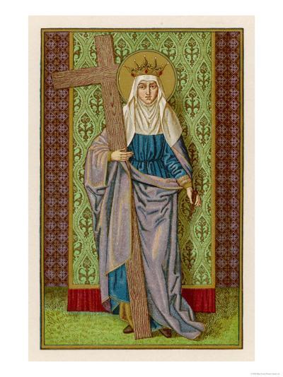 Flavia Julia Helena with the True Cross--Giclee Print