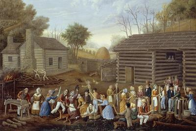 Flax Beater Meeting, 1885-Linton Park-Framed Giclee Print