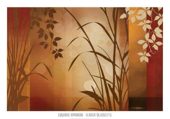 Flaxen Silhouette-Edward Aparicio-Art Print