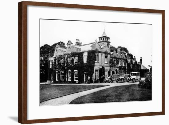 Fleet of Cars at Castle Malwood, Hampshire--Framed Photographic Print