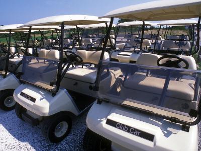 Fleet of Golf Carts Awaiting Avid Golfers, USA-Darlyne A^ Murawski-Photographic Print