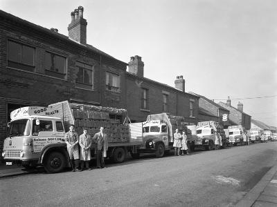 Fleet of Soft Drinks Delivery Lorries, Mexborough, South Yorkshire, 1961-Michael Walters-Photographic Print