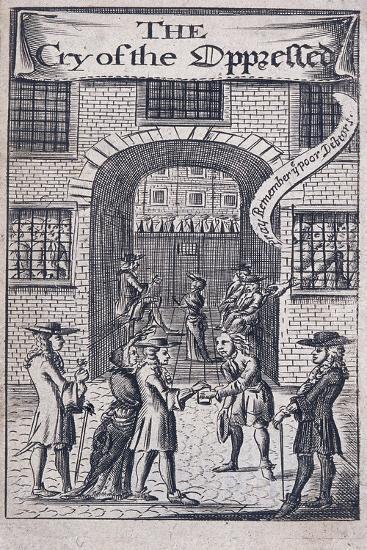 Fleet Prison, London, 1691--Giclee Print