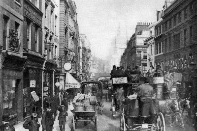 Fleet Street as Seen from Opposite Salisbury Court, London, 1880--Giclee Print