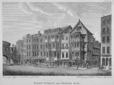 Fleet Street, City of London, 1799-John Roffe-Giclee Print