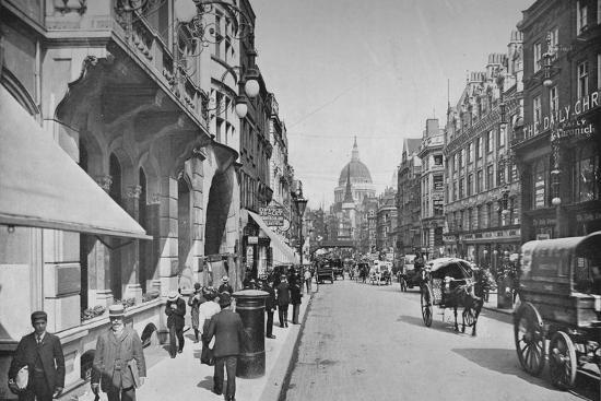 Fleet Street, City of London, c1900 (1911)-Pictorial Agency-Photographic Print