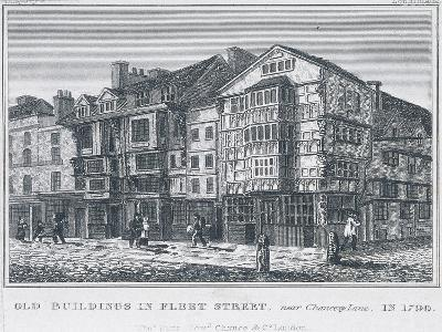 Fleet Street, London, 1828--Giclee Print
