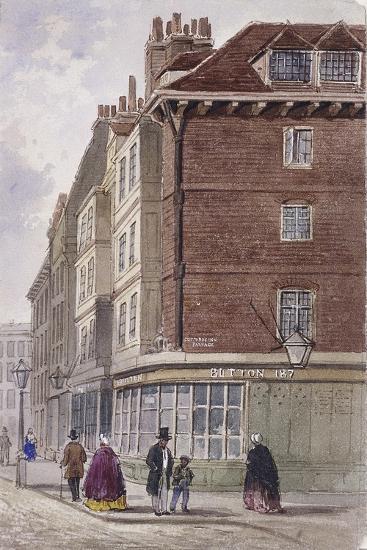 Fleet Street, London, C1845-Frederick Napoleon Shepherd-Giclee Print