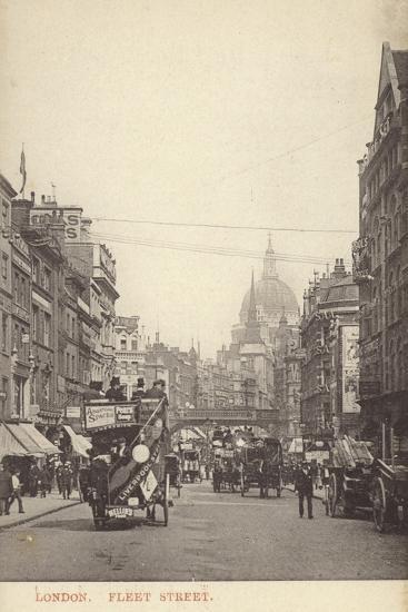 Fleet Street, London--Photographic Print