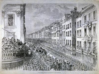 Fleet Street - the Civic Authorities in the Procession, City of London, C1850--Giclee Print